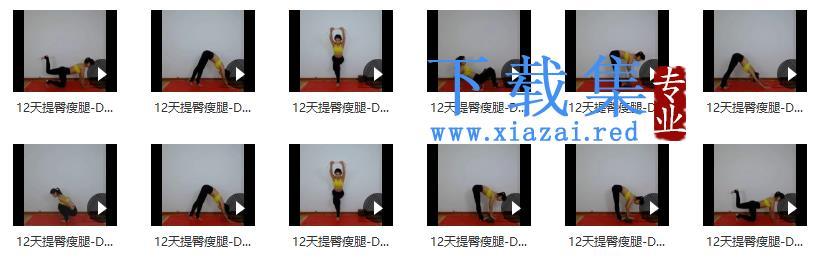 王媚 快速提臀瘦腿瑜伽系列课程 12课  第1张