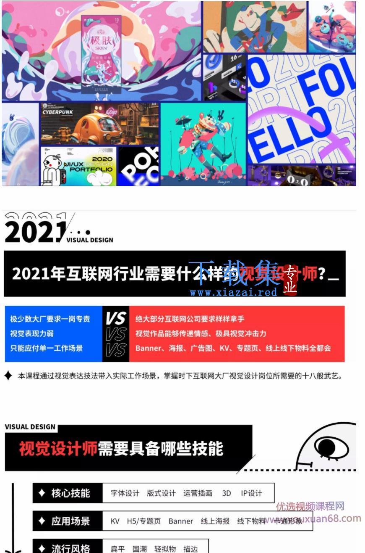 艾琦杨成林视觉技法全能班2021年5月结课【画质高清有素材】