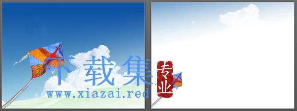蓝天白云自然风光PPT模板  第2张