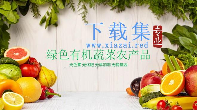 绿色有机蔬菜水果农产品PPT模板