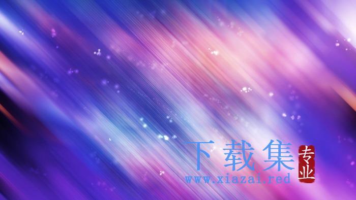 紫色梦幻模糊PPT背景图片  第1张
