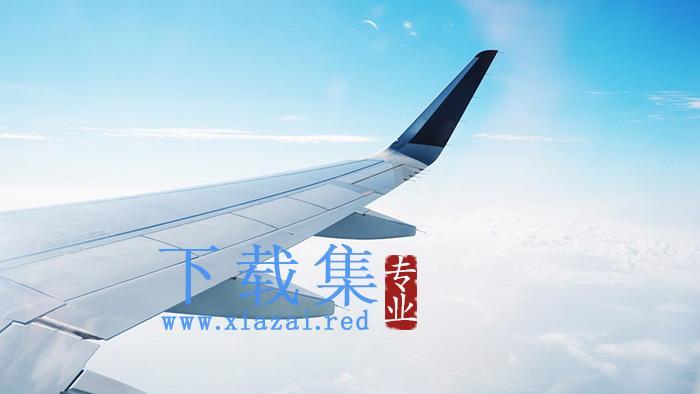 飞机机翼PPT背景图片  第2张