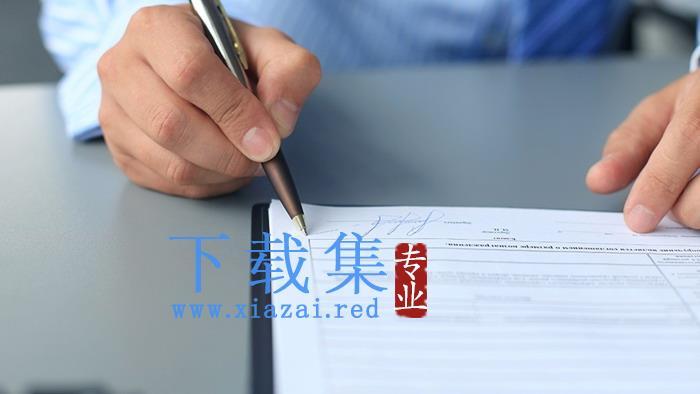 商务签字签名PPT背景图片