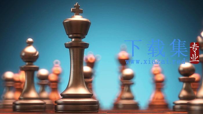 国际象棋PPT背景图片(二)