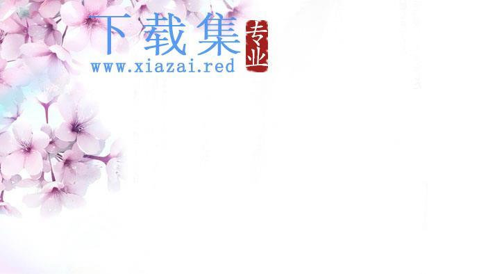 三张粉色唯美桃花PPT背景图片