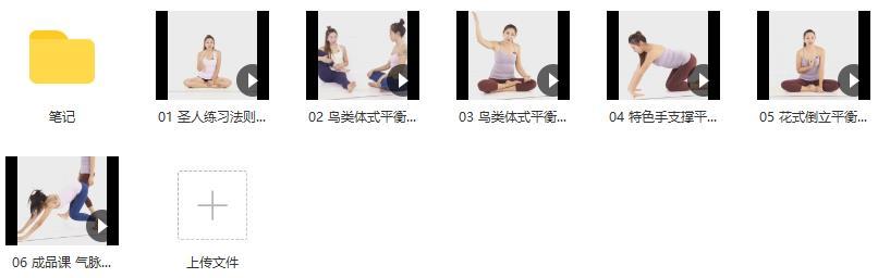 瑜伽创意平衡体式(带笔记)