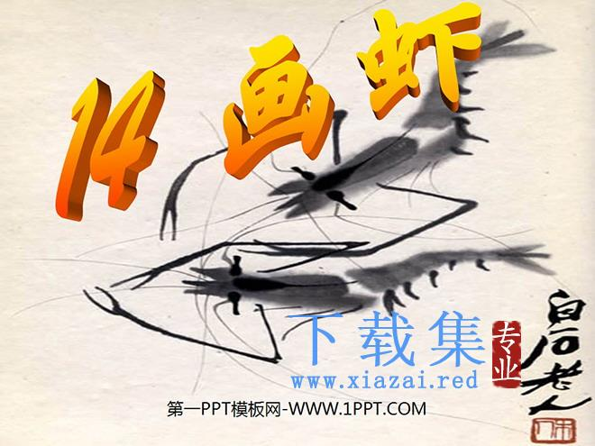 《画虾》PPT课件  第1张
