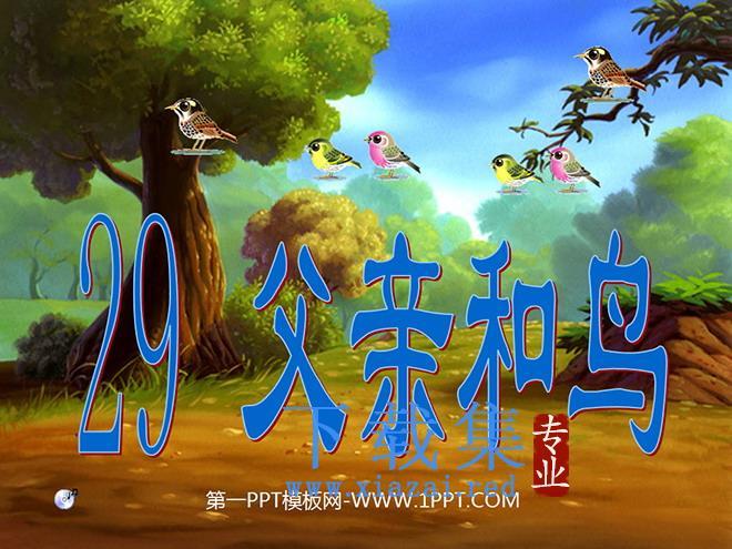 《父亲和鸟》PPT教学课件下载4  第1张