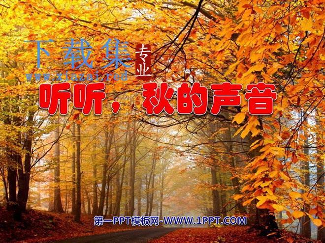 《听听,秋的声音》PPT教学课件下载4  第1张