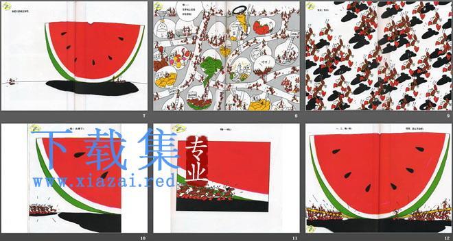 《蚂蚁和西瓜》绘本故事PPT  第3张