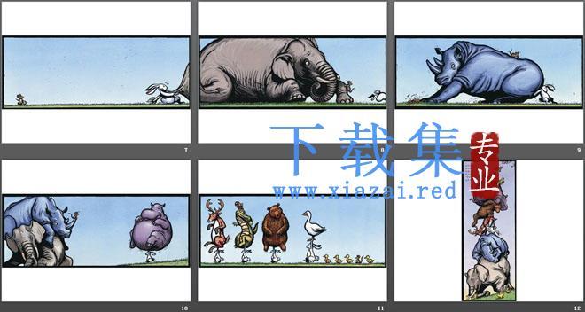 《我的兔子朋友》绘本故事PPT  第3张
