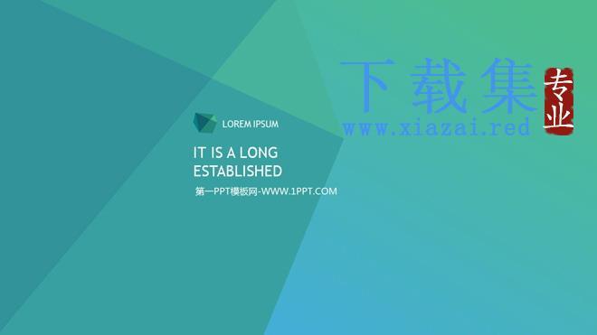 简洁IOS风格国外商务PPT模板  第1张